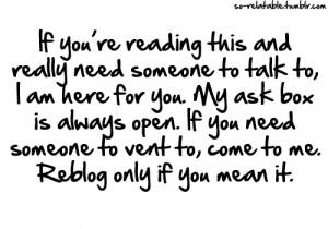depressed depression sad quotes i love you inbox talk vent teen quotes