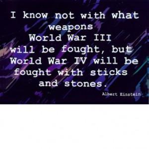 Sticks And Stones Quotes Einstein quote