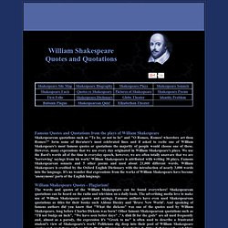 SHAKESPEARE Famous QUOTES and QUOTATIONS. Famous Quotes and Quotations ...