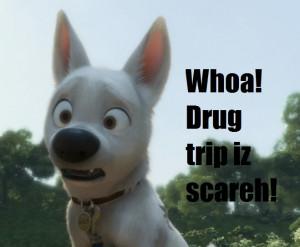 Disney's Bolt Funny Pictures Drug Trip is Scareh