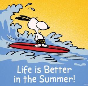 Summer quote via www.Facebook.com/Snoopy