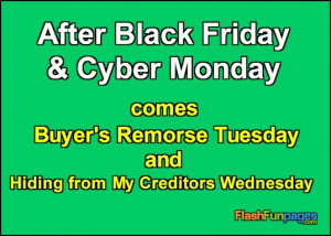 Tags: Black Friday , Cyber Monday , funny ecards , funny quote