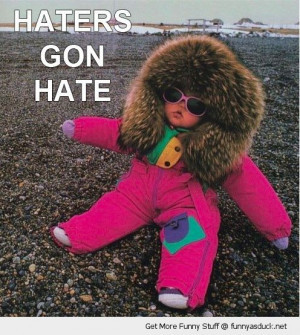 haters gon hate cute baby eskimo snow suit sun glasses shades beach ...