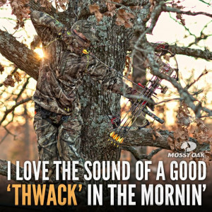 love the sound of a good 'THWACK' in the mornin'