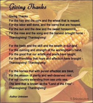 Thanksgiving poems 4