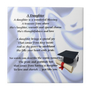 Graduation Daughter Poem Tile