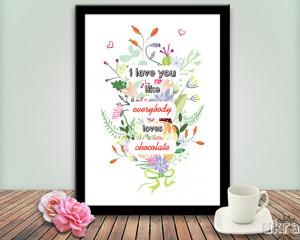 ... Day Print,Printable Love quote,I love you print,Custom print