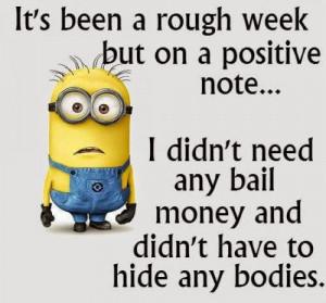 It's been a rough week...