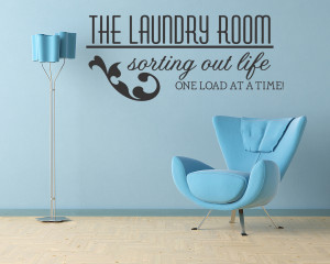 Laundry Room Vinyl Wall Quote Decal Sticker Art Decor Art Decor Wall