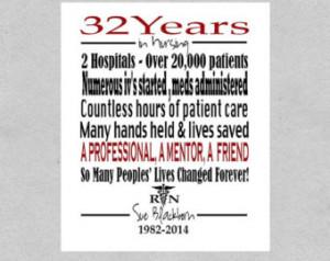 ... Retirement Gift - Registered Nurse Gift -Nurse Thank You Gift Digital