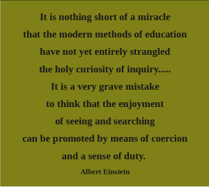 Kindergarten Quotes Artful quote: albert einstein