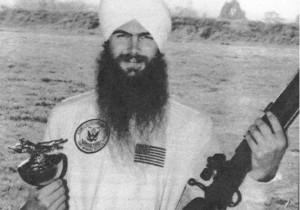 ... Singh Ji Khalsa Bhindranwale With Guns On sant jarnail singh ji