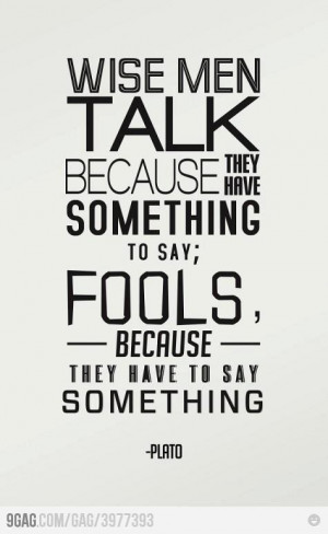 Wise men talk