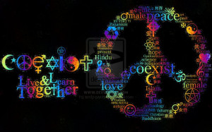 ... quotes peace signs rainbows living colors spirit things coexist peace