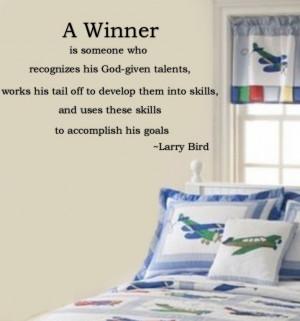 Larry Bird Inspirational Quote - #NBA #Celtics #Motivational - Boston ...