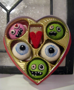 Needle Felted Zombie Valentine Candies from Tina Waltke of She Who ...