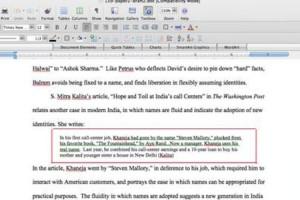 College essay writers block quote