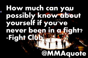 King of fighting quotes from the movie Fight Club.
