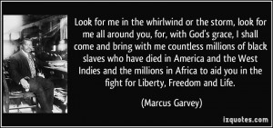 ... to aid you in the fight for Liberty, Freedom and Life. - Marcus Garvey