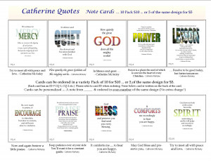 New cards with quotes from Catherine McAuley!