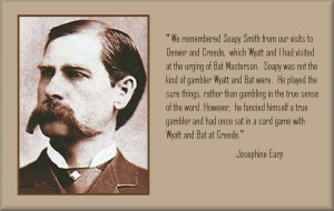 Wyatt Earp, Bat Masterson and Soapy Smith in Creede, Colorado
