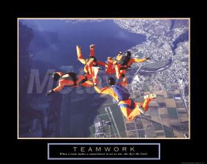Teamwork Skydivers - Teamwork Quotes