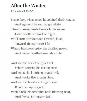 claude mckay after the winter - Google Search