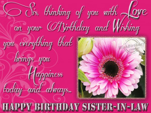 Wishing Happy Birthday To Sweet Sister-in-law