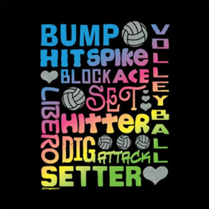 Volleyball Quotes Glitter volleyball t-shirt