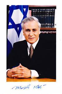 MOSHE KATSAV PRESIDENTE ISRAELE AUTOGRAFO AUTOGRAPH Ori