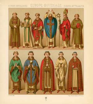 clothing | Europe Middle Ages - Priest's Clothing - PRINTS: Priest ...
