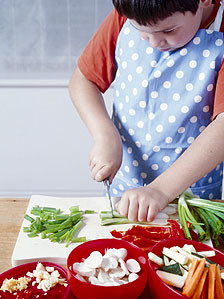 Experts say children can learn a lot about food from cooking ...