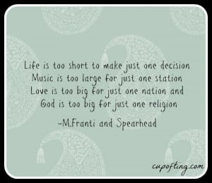 ... Franti and SpearheadFun Quotes, Favorite Quotes, Michael Franti Quotes