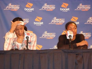 Candace Parker and Alana Beard answer questions from the media post ...