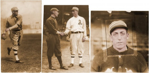 1916 road bb ref eddie plank johnny evers eddie plank shake during