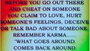 Karma Quotes Cheating