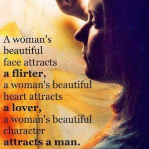woman's beautiful face attracts a flirter, a woman's beautiful ...