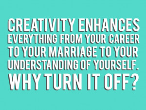 Because I love creative thinking.....
