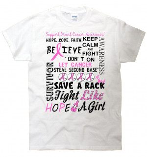 Breast Cancer Quotes Funny Breast cancer mash-up quote t-