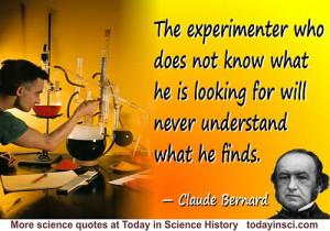 Claude Bernard Quote The