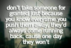 dont push important people away