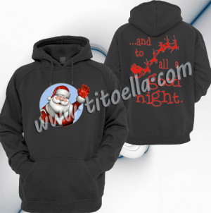 Home Page Hoodies Santa Claus Christmas Quotes Design Unisex Pullover ...