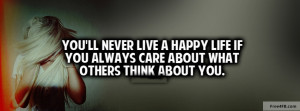 cover photo don t care what others say facebook cover