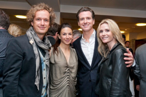 Yves Behar Sabrina Buell Mayor Gavin Newsom Jennifer Siebel picture