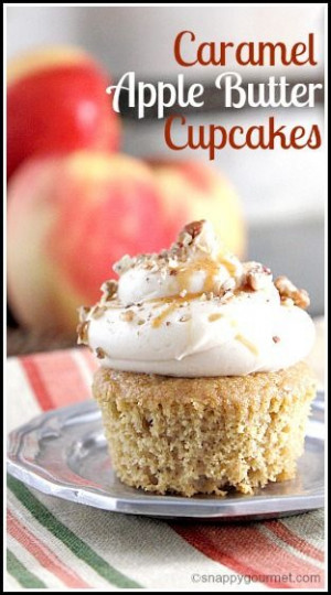 Caramel Apple Butter Cupcakes (and giveaway) - great fall, holiday ...