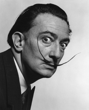 Dali's Mustache – photo by Philip Halsman, 1954
