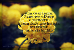 My mother takes for example the Blessed Mother and I fly to the Mother ...