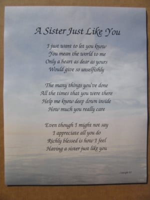 sister quotes and poems search inspirational sister poems