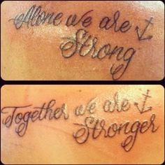matching tattoos for cousins Mine and My cousins tat...