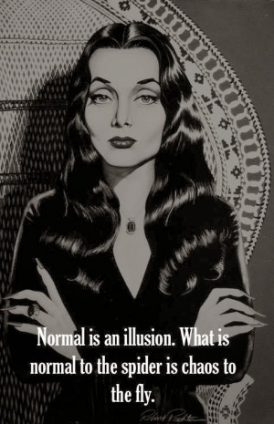addams_family_quotes_morticia_Normal_illusion_spider_chaos_fly_Charles ...